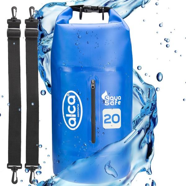 Wasserdichter Packsack mit Reißverschlusstasche 20 L
