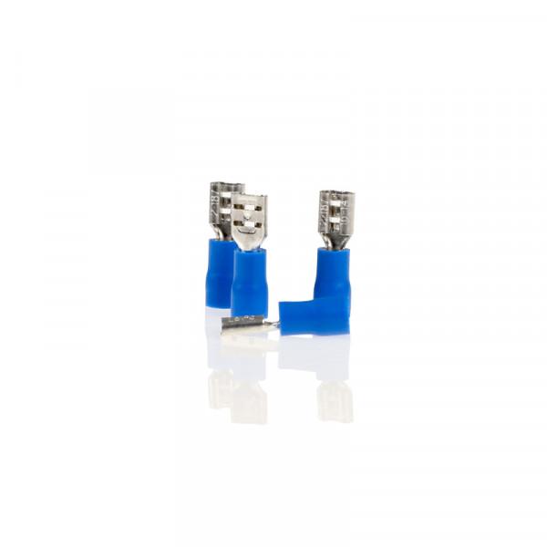 Flachsteckhülsen blau 5,6mm 10St.