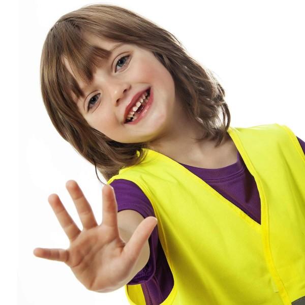 Premium Kinder Warnweste 2er Set gelb