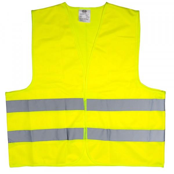 Premium Warnweste 2er Set mit Zertifikat gelb XL