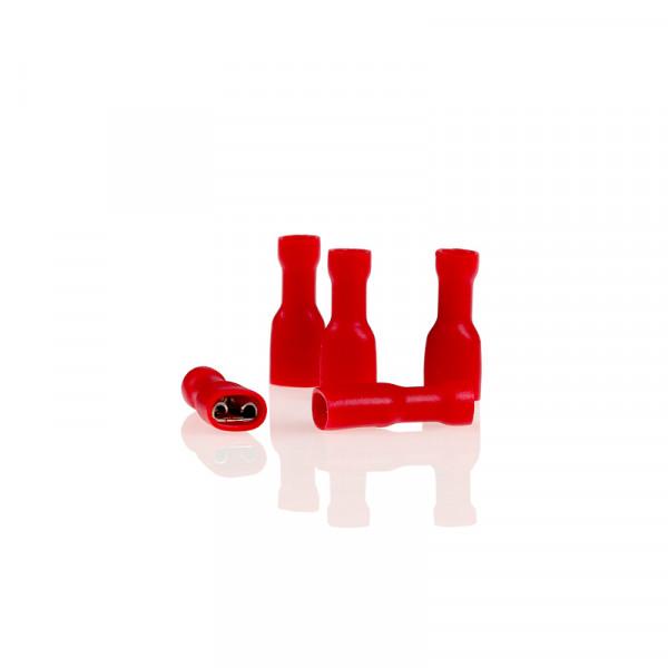 Flachsteckhülsen vollisoliert rot 5,6mm 10St.