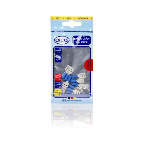 Flachsteckhülsen blau 9,0mm 10St.