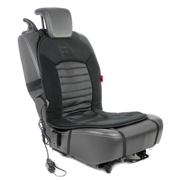 Premium Carbon Heiz-Sitzauflage 12V schwarz