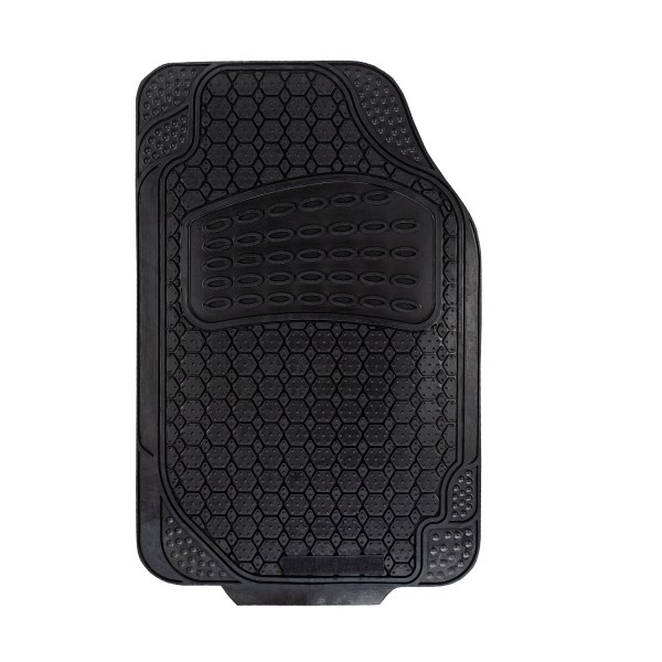Gummi-Fußmatten schwarz Fahrer-/Beifahrerseite universal