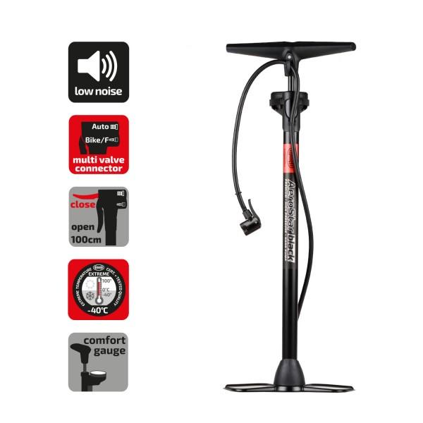 Premium Handpumpe mit Manometer Black Edition
