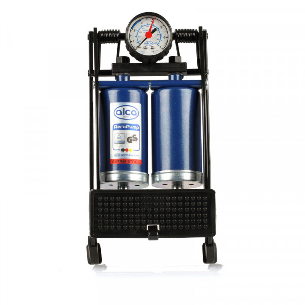 2-Zylinder Hochleistungs-Fußpumpe + Manometer