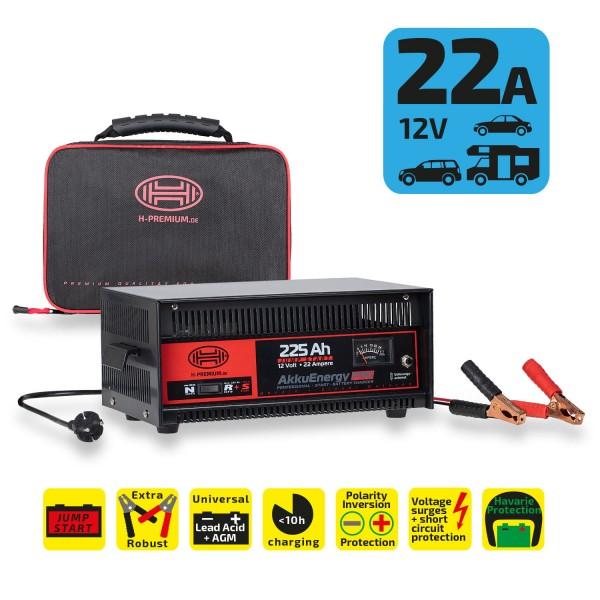 Premium Batterieladegerät 22A 12V