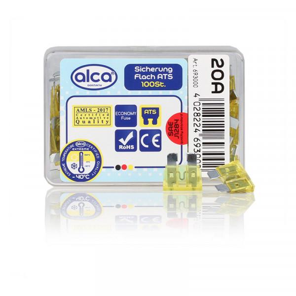 Flach-Sicherungen 20 A, 100 St. Economy Box