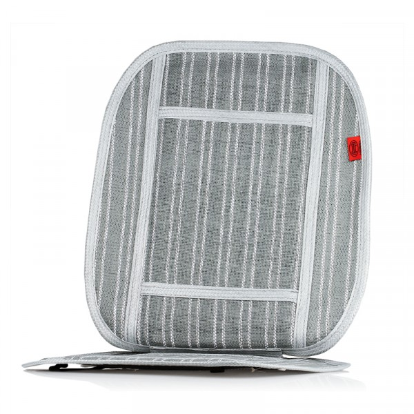 Premium Kühlsitzauflage grau/weiß