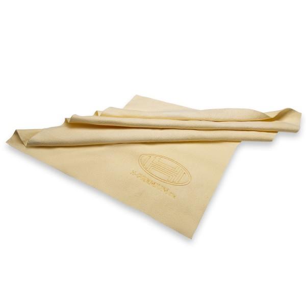 Premium Lederlappen mit Kunststoffbox 43 x 32 cm