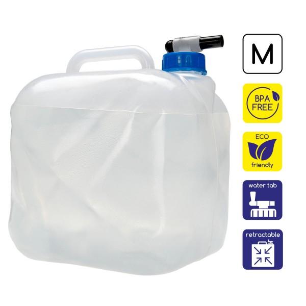 Faltbarer Wasserkanister 10 L mit Ablasshahn