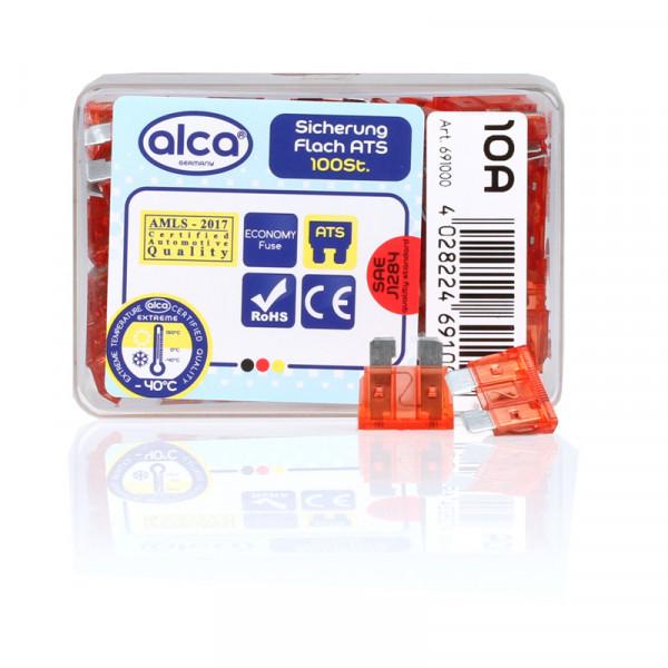 Flach-Sicherungen 10 A; 100 St. Economy Box